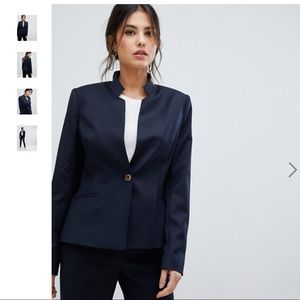 TED BAKER RIVAA Stitch Detail Tailored Blazer NWT